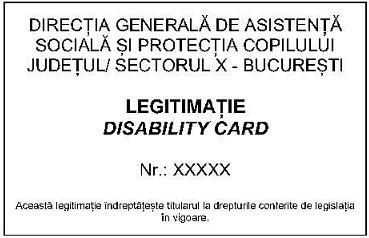 2020 Legitimatie Handicap spate