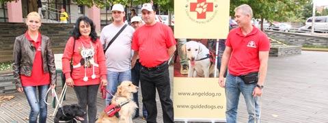 Nevazatorii au sansa de a primi un caine ghid de la Asociatia Angel Dog